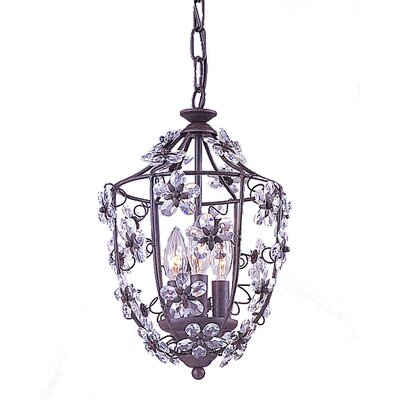 Abbie 3-Light Foyer Pendant Finish: Wrought Iron