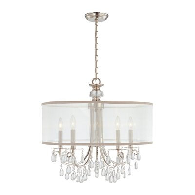 Hampton 5-Light Drum Chandelier Finish: Polished Chrome