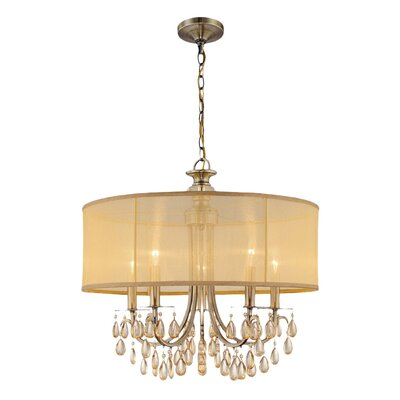 Hampton 5-Light Drum Chandelier Finish: Antique Brass