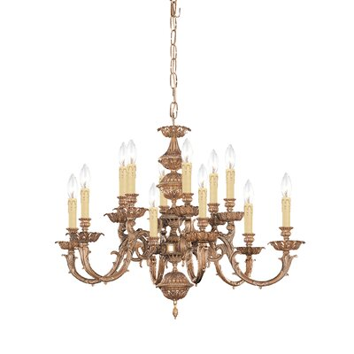 Olde World 12-Light Candle-Style Chandelier