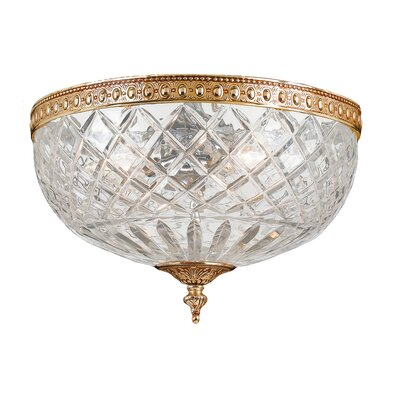 Olde World Crystal 2-Light Flush Mount