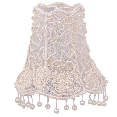 Beaded Mini 4.5 Fabric Bell Candelabra Shade