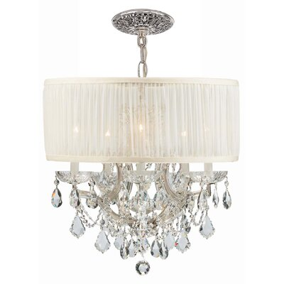 Brentwood 5-Light Drum Chandelier Crystal: Swarovski Strass