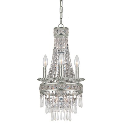 Mercer 4-Light Crystal Chandelier Finish: Old Silver