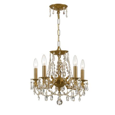 Mirabella 5-Light Shaded Chandelier Finish: Aged Brass