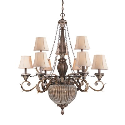 Roosevelt 11-Light Shaded Chandelier