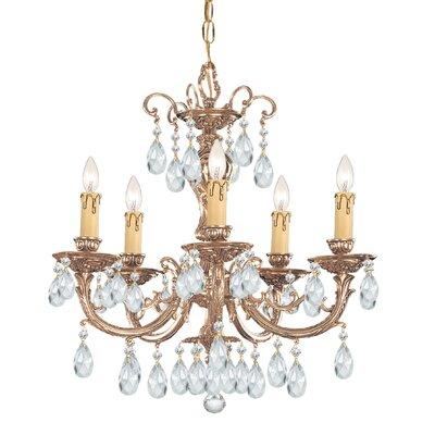 Olde World 5-Light Crystal Chandelier Crystal: Swarovski Strass
