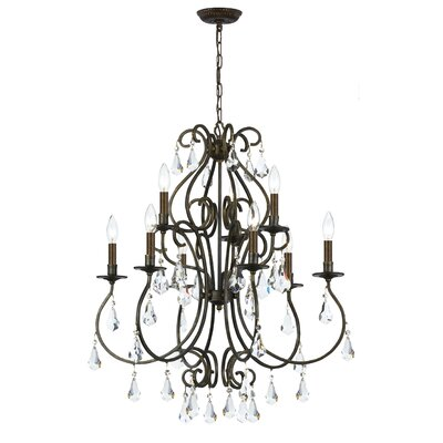 Shaughnessy Traditional 9-Light Crystal Chandelier