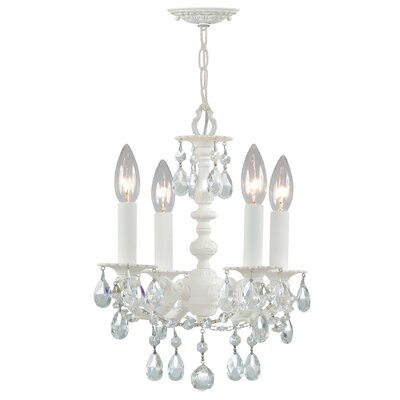 Theroux 4-Light Candle-Style Chandelier Crystal Color: Clear