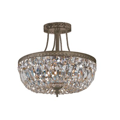 Hot Deal 3-Light Semi Flush Mount