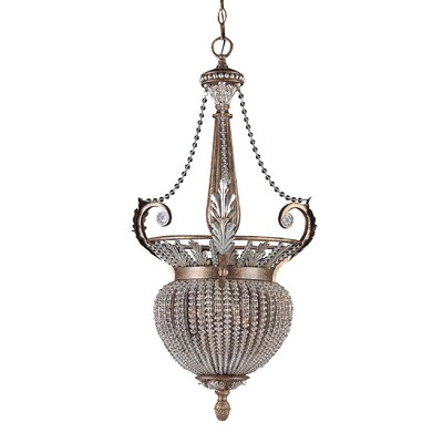 Roosevelt 3-Light Foyer Pendant Size: 19 W