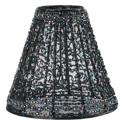 Beaded Mini 5.5 Fabric Empire Candelabra Shade