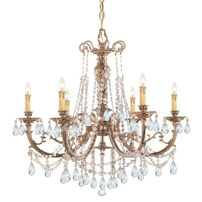 Olde World 6-Light Crystal Chandelier Crystal: Swarovski Strass