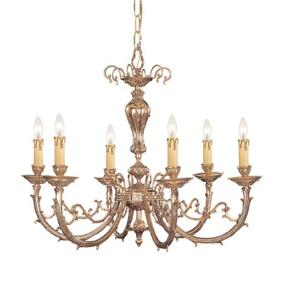 Olde World 6-Light Candle-Style Chandelier