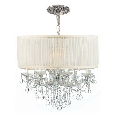 Brentwood 8-Light Drum Chandelier Crystal: Swarovski Strass