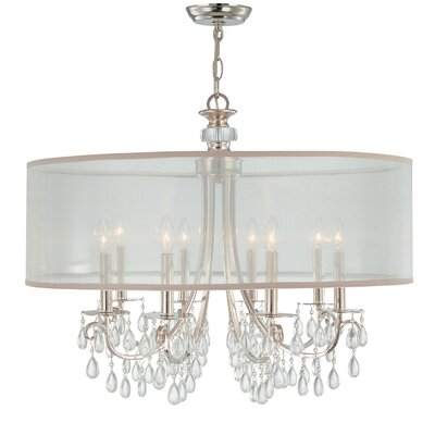 Aayush 8-Light Drum Chandelier Finish: Polished Chrome