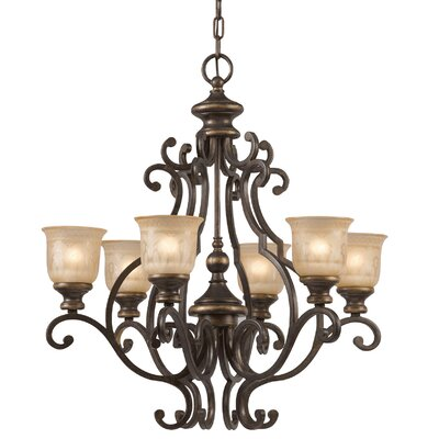 Norwalk 6-Light Shaded Chandelier