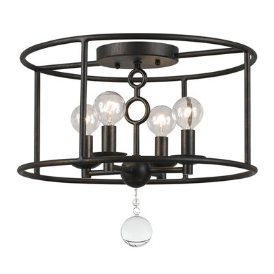Cameron 4-Light Bronze Semi-Flush