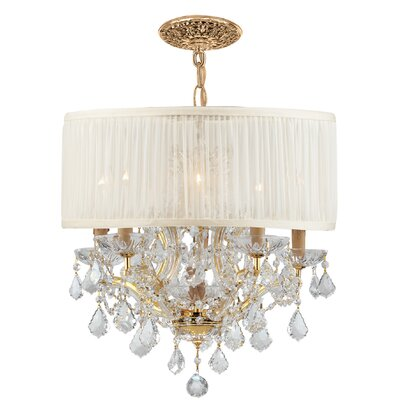 Brentwood 5 Light Chandelier Crystal: Swarovski Strass