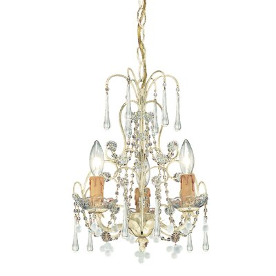 Ella 3-Light Mini Crystal Chandelier Finish: Champagne
