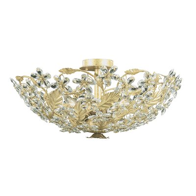 Theroux 6-Light Semi Flush Mount Finish: Champagne