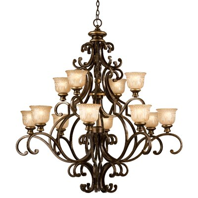 Norwalk 12-Light Shaded Chandelier