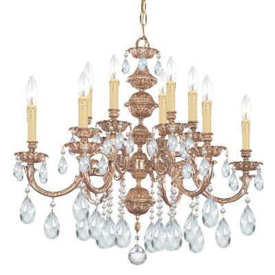 Oxford 12-Light Crystal Chandelier