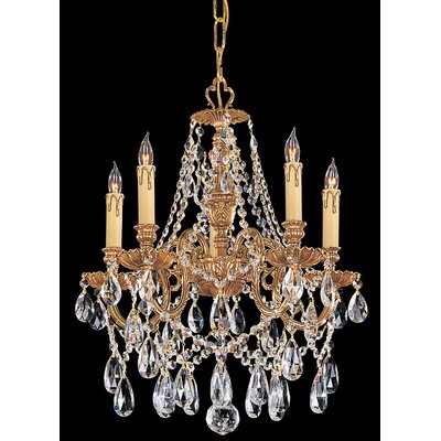 Olde World 5-Light Crystal Chandelier Crystal Type: Majestic Wood Polished