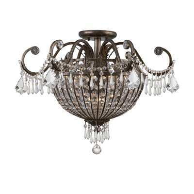 Markenfield Crystal 9-Light Semi Flush Mount