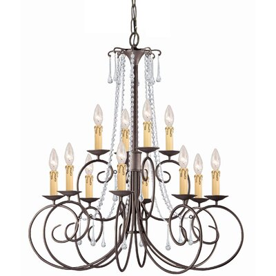 Soho 12-Light Crystal Chandelier Crystal: Swarovski Spectra