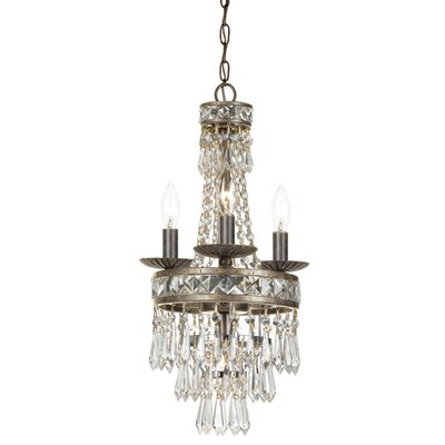 Mercer 4-Light Crystal Chandelier Finish: English Bronze