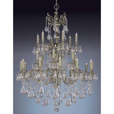 Olde World 25-Light Crystal Chandelier Crystal Type: Swarovski Strass