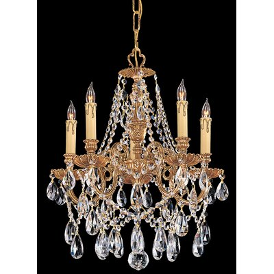 Olde World 5-Light Crystal Chandelier Crystal Type: Swarovski Spectra