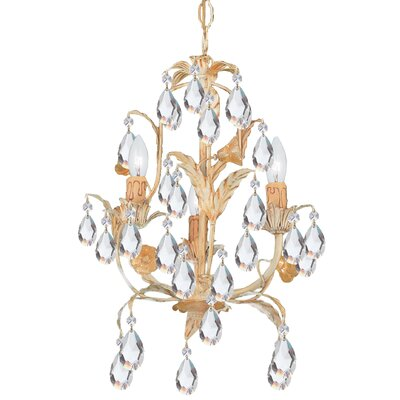 Athena 3-Light Crystal Chandelier