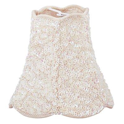 Beaded Mini 4.5 Fabric Bell Candelabra Shade