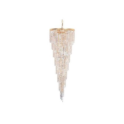 Shower 15-Light Crystal Chandelier Crystal Grade: Spectra