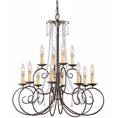 Soho 12-Light Candle-Style Chandelier Crystal: Hand Polished