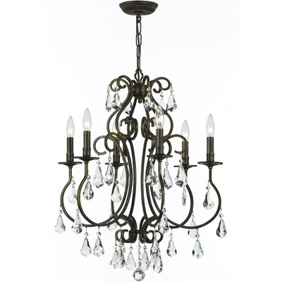 Shaughnessy Traditional 6-Light Crystal Chandelier