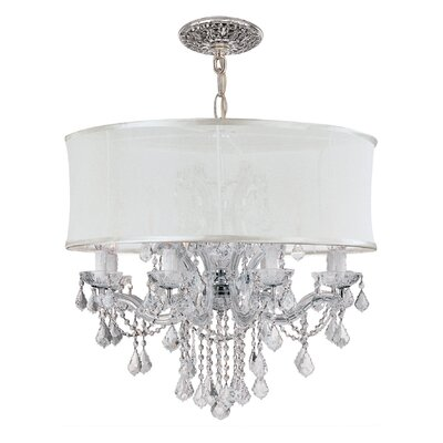 Corrinne Traditional 12-Light Drum Chandelier Crystal Type: Clear Hand Polished
