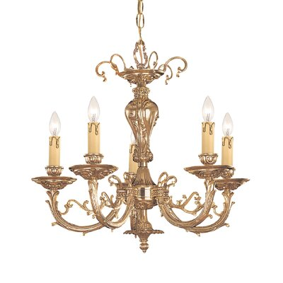 Olde World 5-Light Candle-Style Chandelier