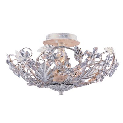 Abbie Floral 6-Light Semi Flush Mount Finish: Antique White