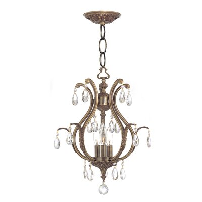 Dawson 3-Light Foyer Pendant Crystal: Hand Polished, Finish: Pewter