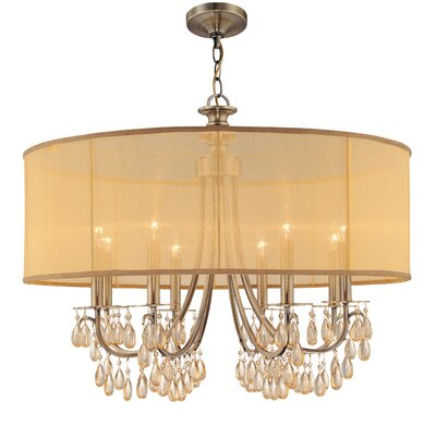Aayush 8-Light Drum Chandelier Finish: Antique Brass