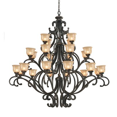Norwalk 24-Light Shaded Chandelier