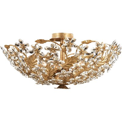 Theroux 6-Light Semi Flush Mount Finish: Gold Leaf