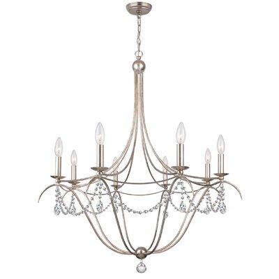 Metro 8-Light Candle-Style Chandelier
