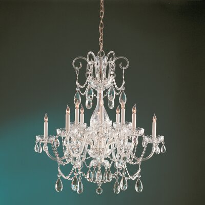Waterfall Crystal 6-Light Crystal Chandelier Finish: Polished Brass, Crystal: Hand Polished