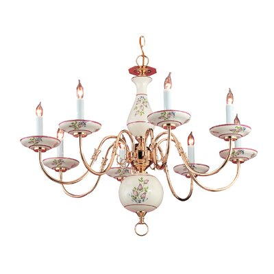 Classic Ceramic 8-Light Candle-Style Chandelier