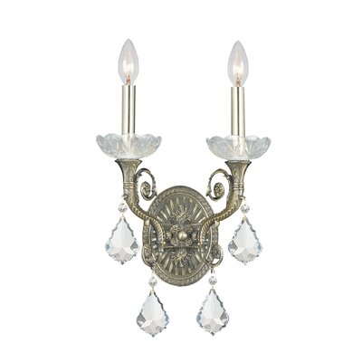Crystorama Majestic Candle Wall Sconce in Historic Brass | Wayfair