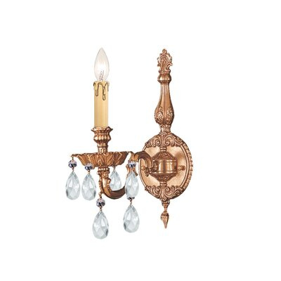Crystorama Olde World Candle Wall Sconce in Olde Brass with ...